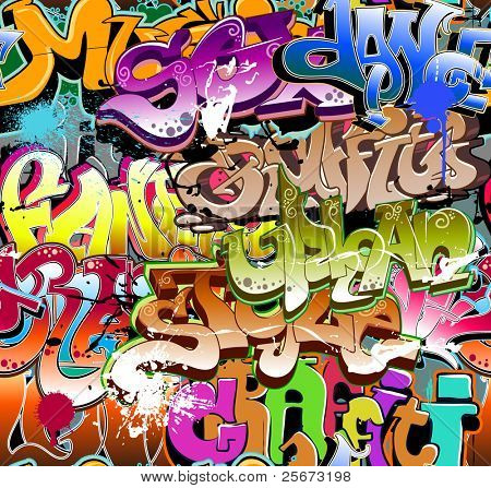 Graffiti seamless background