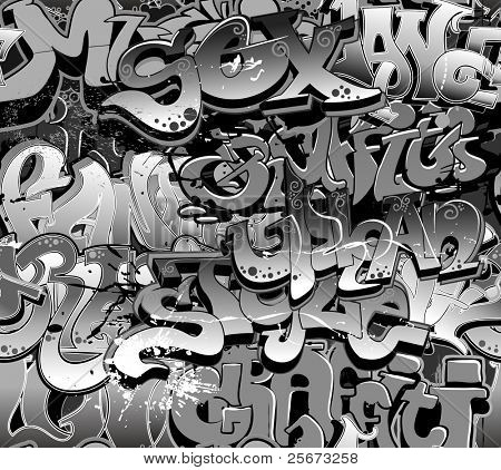 Graffiti seamless background. Urban art texture