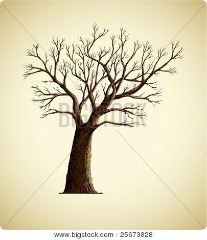 Icono de árbol Vintage