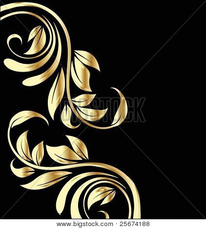 Wedding gold flowers background design