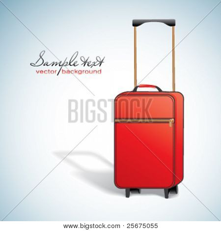 Vector red suitcase