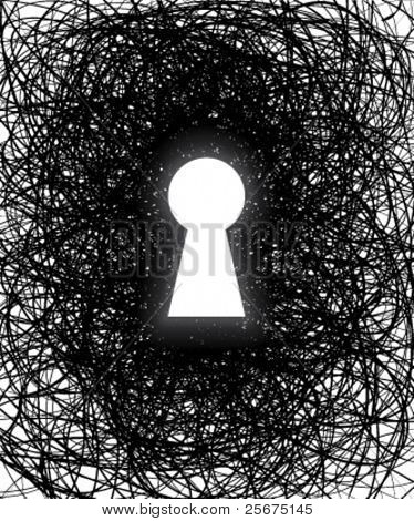 An abstract keyhole