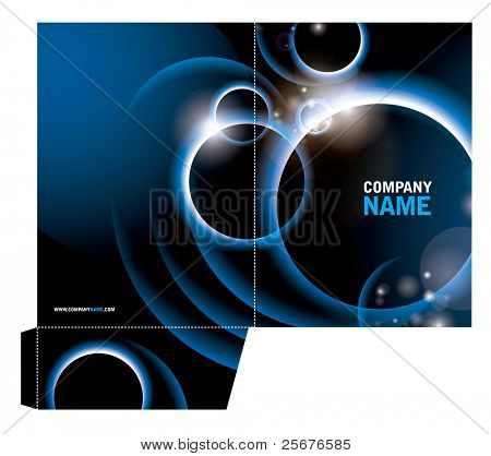 vector of folder template with abstract background