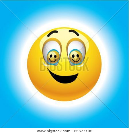 Smiling ball with smileys in eyes