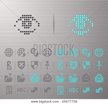 Perforated Internet and Security buttons
