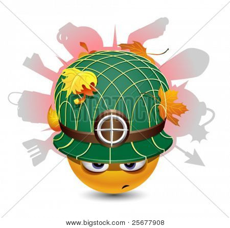 Smiley ball as soldier