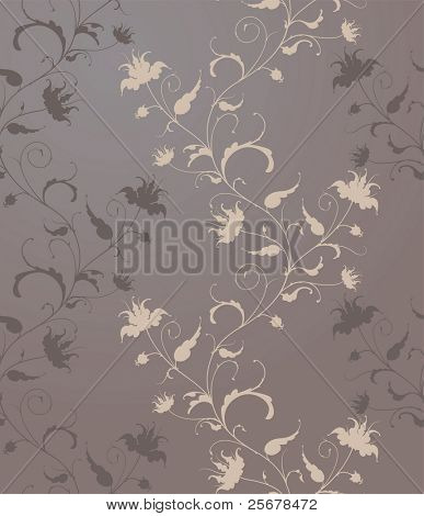 vector flower wallpaper (seamless vector pattern included in swatches palette) • Full collection of similar pattern in my portfolio •