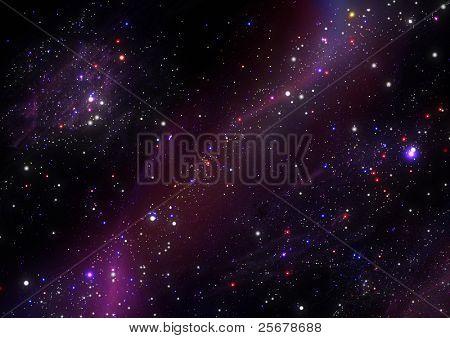 Star cluster, Nebula