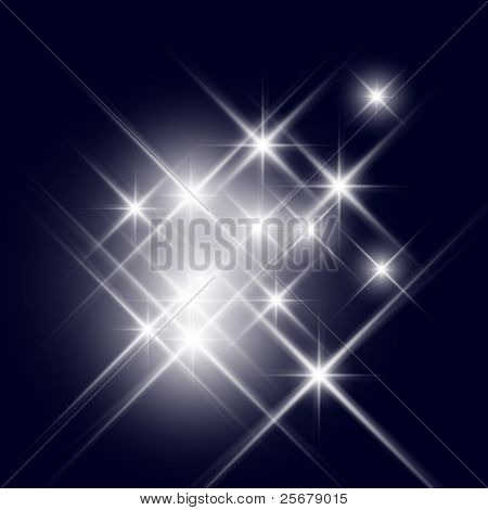 Vector glittering stars (can be used with any background)