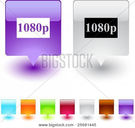 1080p glossy square web buttons.