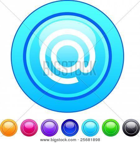 At glossy circle web buttons.