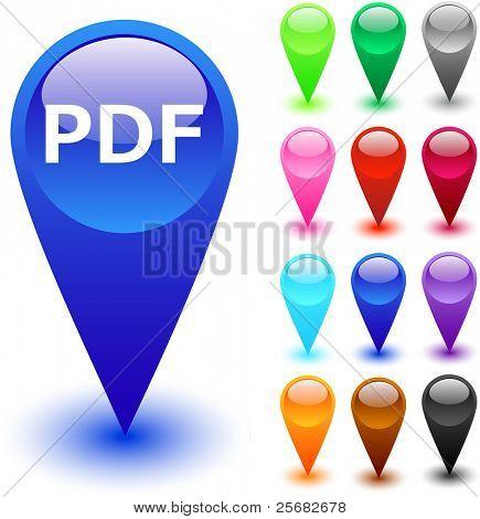 PDF glossy web buttons.