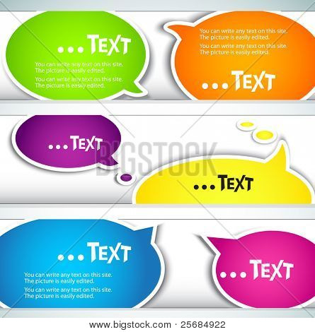 Colorful  bubble for speech. Set of banners