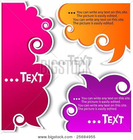 Colorful bubbles for speech