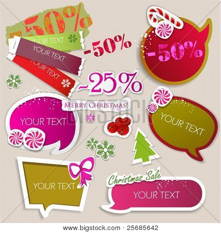 Paper bubbles for speech. Christmas Sale