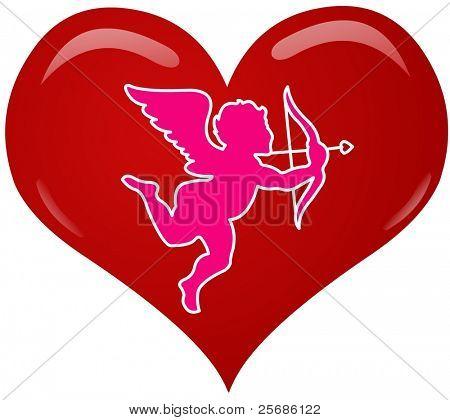 coração de eros-de-rosa