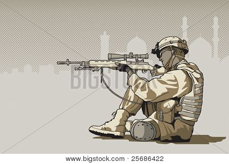 Soldier with a rifle