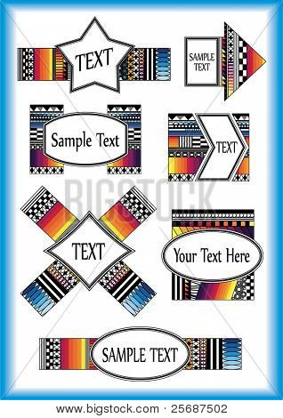 Set of colorful Frame for your text