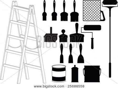 House painter tool vector
