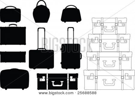 Vector suitcase collection