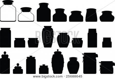 Jar vector collection