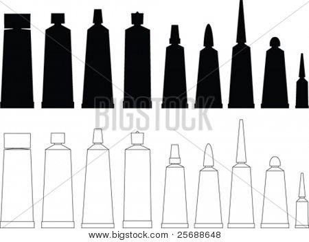 Tubes vector collection