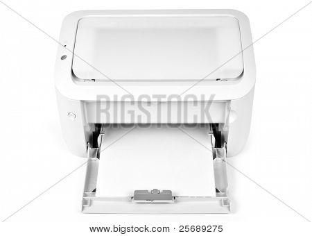 One white printer on white background