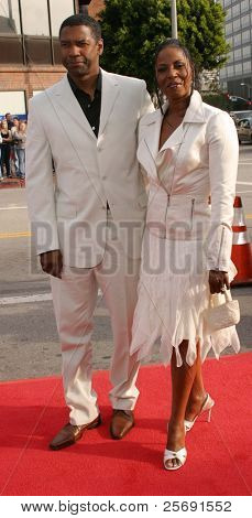 LOS ANGELES - APRIL 18: Denzel Washington; wife Pauletta at the 'Man On Fire' premiere on April 18, 2004 in Westwood, Los Angeles, California