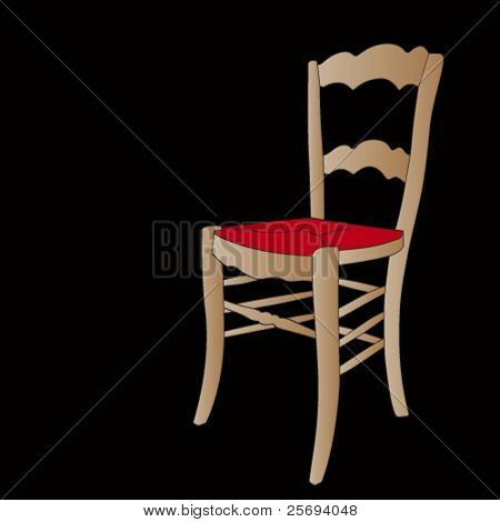Chair isolated on  black background