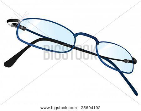 Vector illustration of eyeglasses