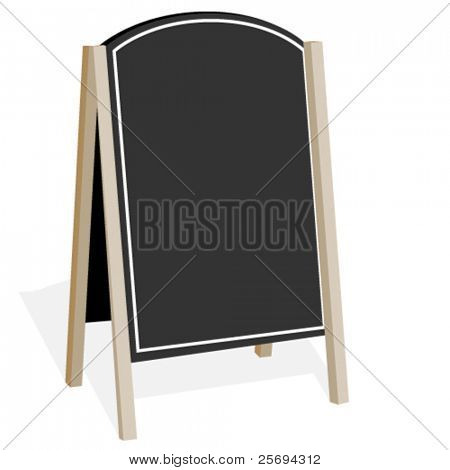 Vector billboard on a white background
