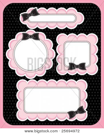 cute lace frame template