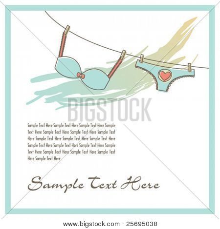 lingerie on the clothesline template 02