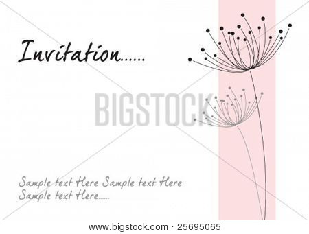 dandelion invitation template