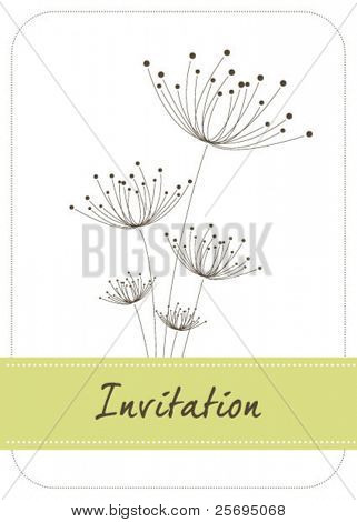 dandelion invitation template 02