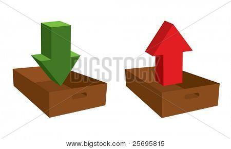 income and outcome symbols