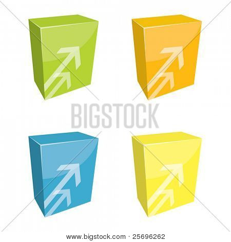 colorful boxes with arrows