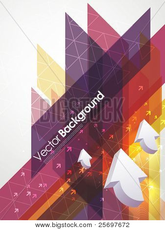 abstract vector business background with arrows