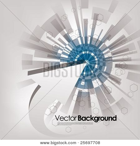 abstract vector background with arrow