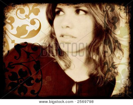 Vintage Girl Portrait