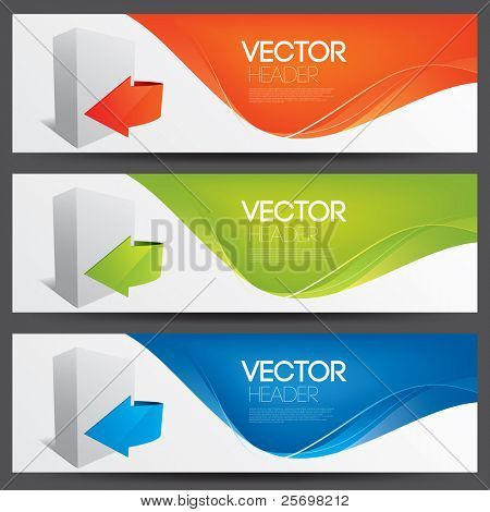 vector website headers for software products
