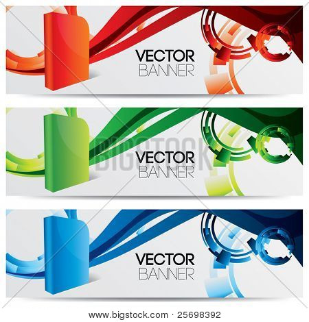 vector website banners for software products