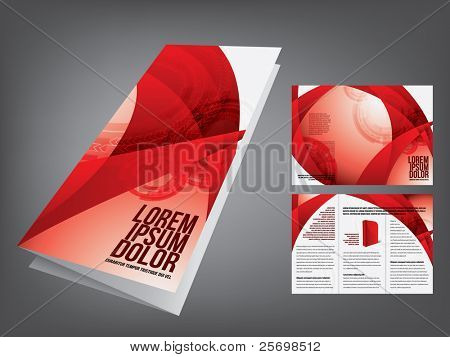 Tri fold Broschüre Business-template