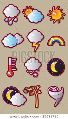 Wetter Vector Icon set