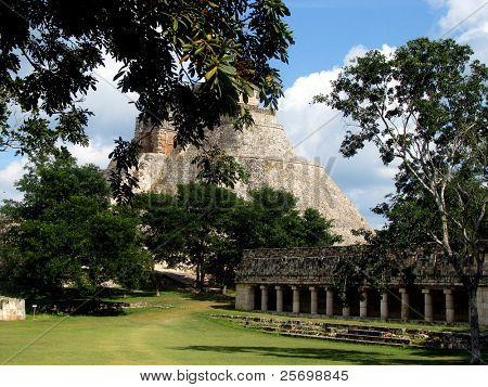 Discover of the Mayan pyramid