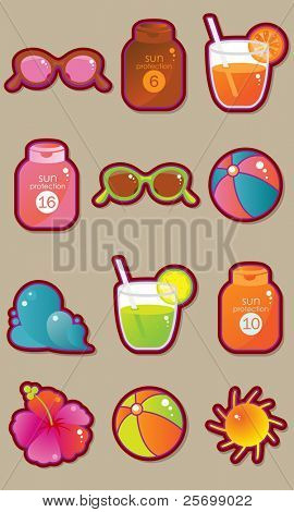 Vacation and travel vector set part 2