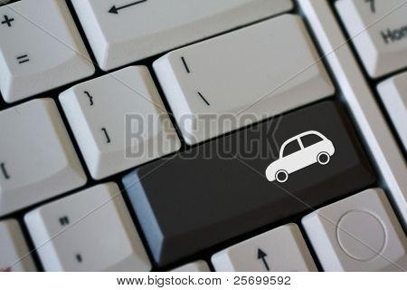 Black car key