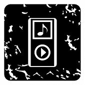 Audio Player Icon. Grunge Illustration Of Audio Player Icon For Web poster
