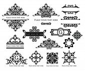 image of text-box  - vector set vintage labels 4 - JPG