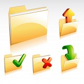 stock photo of file folders  - folder icon set - JPG